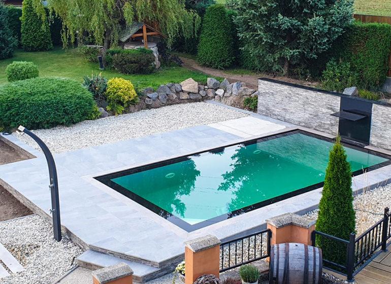 Überlauf Pool Schwimmbecken Bresco