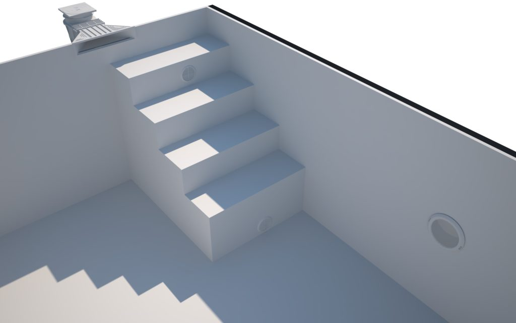 Bresco Schwimmbecken Treppe